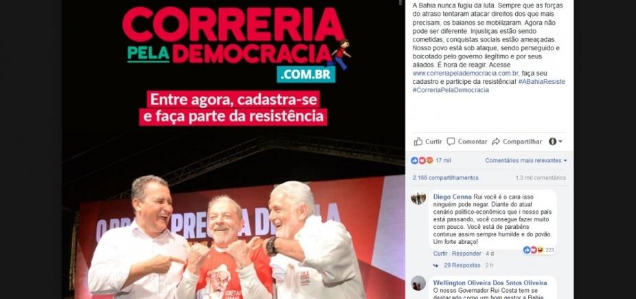 Rui e aliados lançam site 'Correria Pela Democracia' para 'combater ataques'