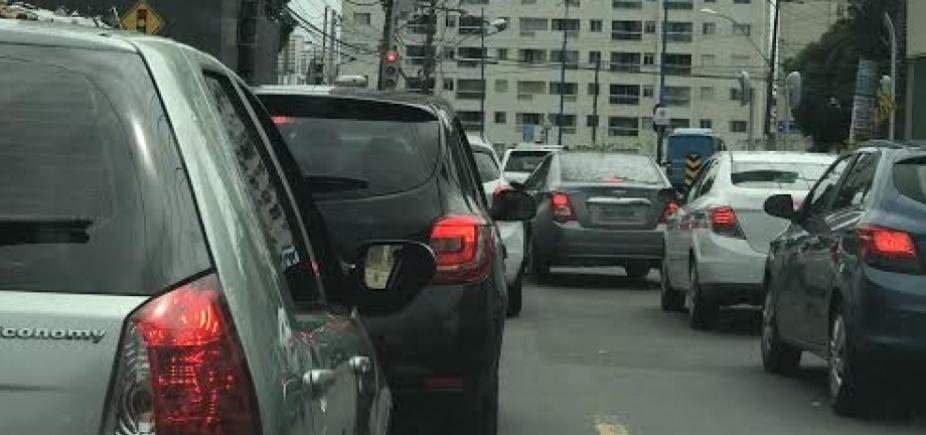 Mesmo sem acidentes, motoristas enfrentam congestionamento