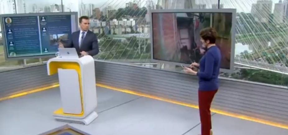 Azedou! Apresentadores da Globo se estranham durante jornal; vídeo