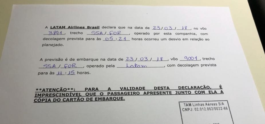 Cansada, tripulação se recusa a partir e voo da Latam é cancelado em Salvador