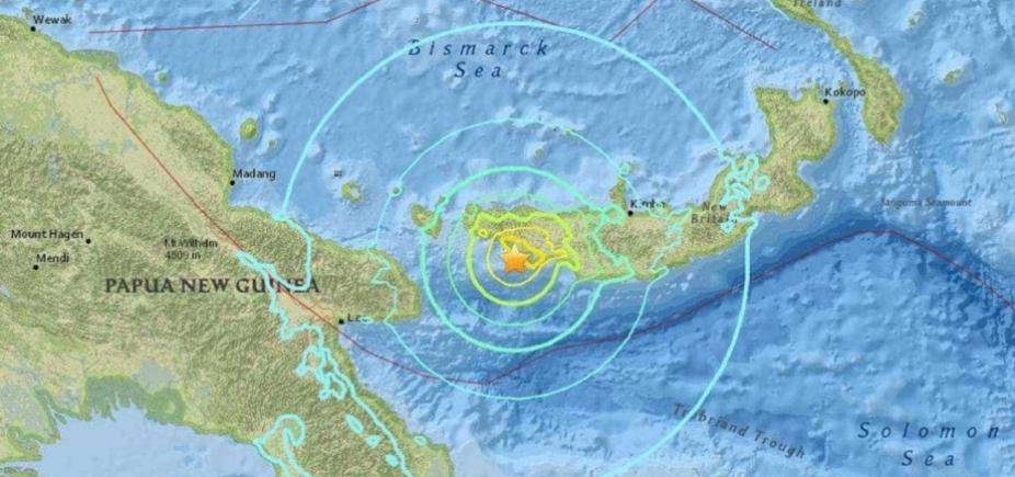 Papua Nova Guiné sofre terremoto de 6,6 graus
