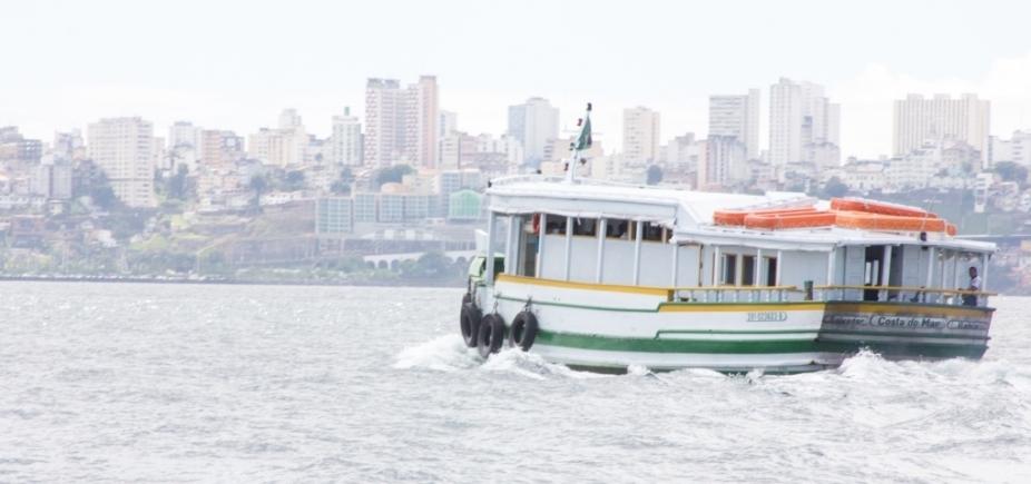 Por maré baixa, travessia Salvador-Mar Grande encerra mais cedo