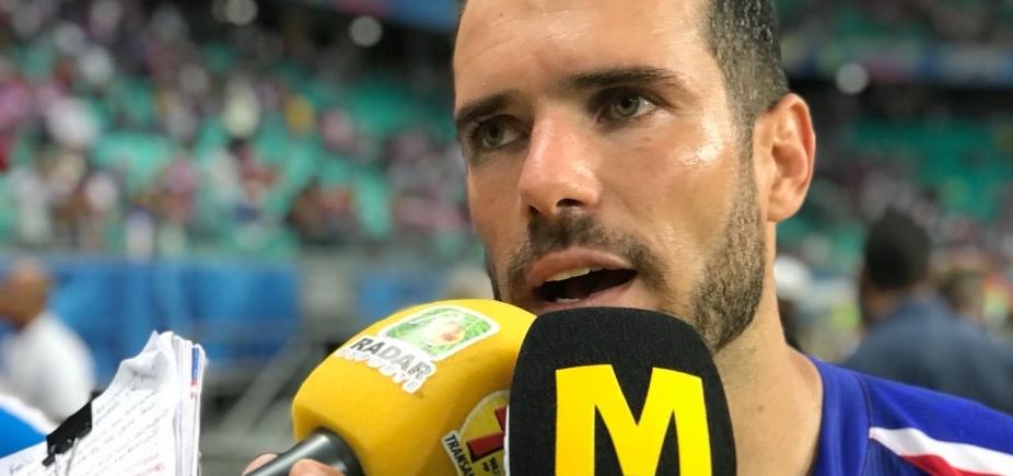 Zagueiro do Bahia nega acomodação por jogar com vantagem contra o Vitória
