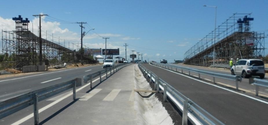 Estrada do Coco será interditada amanhã para montagem de passarela