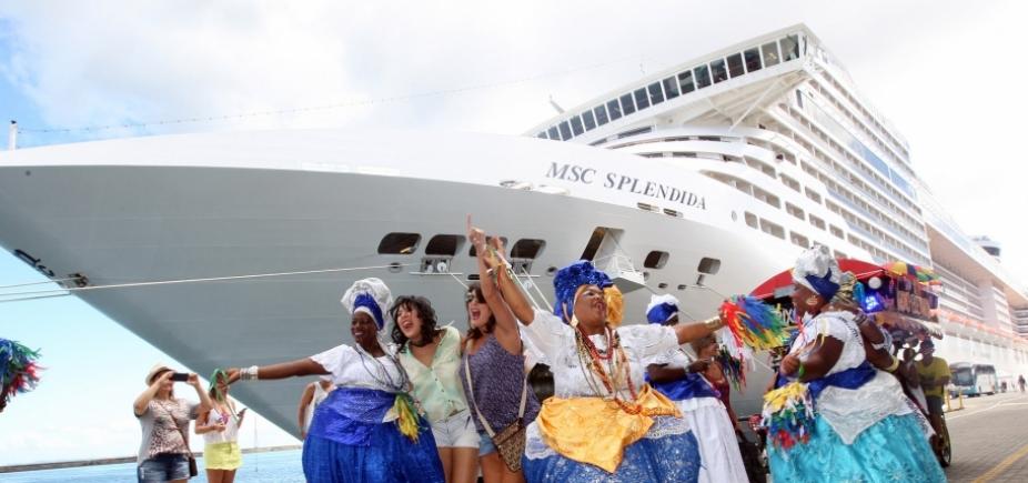 Navios com 7,5 mil turistas vão desembarcar em Salvador na próxima semana