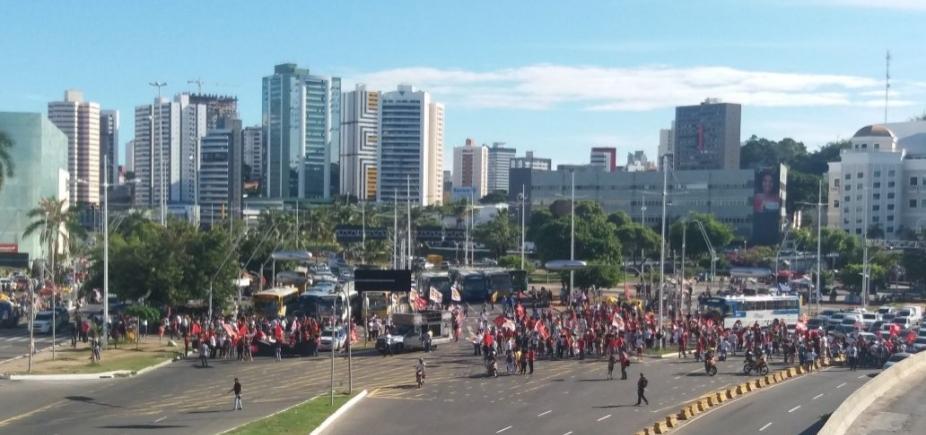 Após ato em Lauro, Moema e manifestantes protestam na região do Iguatemi