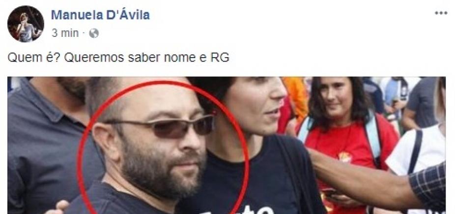 Manuela DʹÁvila busca seguidor de Bolsonaro que a abordou em frente a prisão de Lula