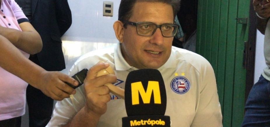 Guto explica decisão de poupar atletas do Bahia na Sul-Americana: ʹNinguém é máquinaʹ
