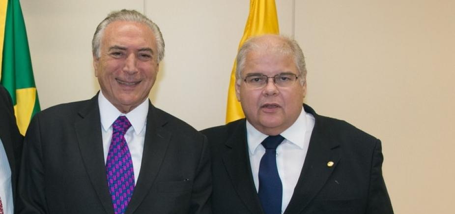 Ameaçado com processo de cassação, Lúcio Vieira Lima encontra Temer