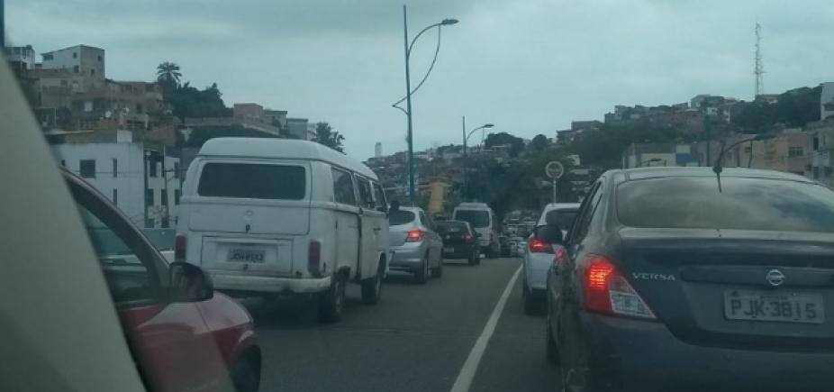 Trânsito continua complicado nas vias de acesso a Vasco da Gama