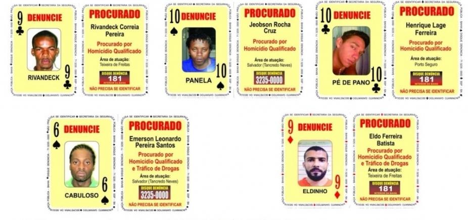 Baralho do Crime tem oito novos procurados na Bahia; confira nomes
