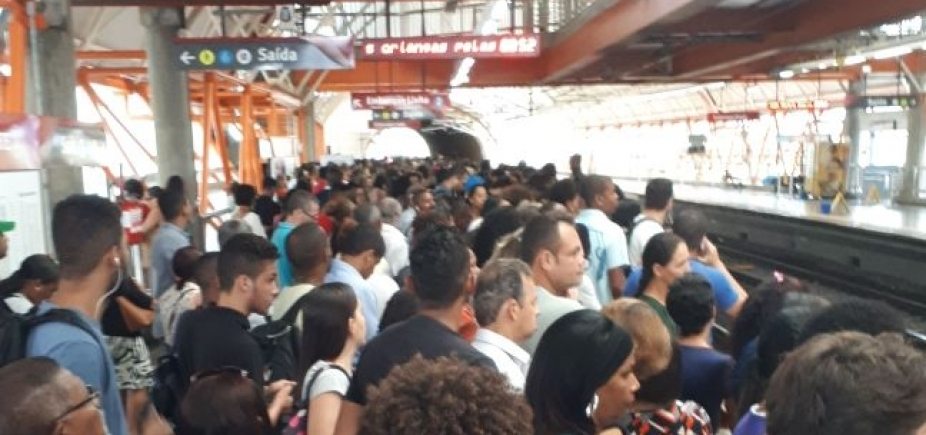 Falha elétrica prejudica tráfego da Linha 1 do Metrô de Salvador
