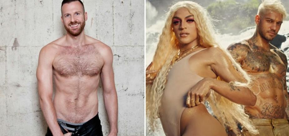 Astro pornô gay vê clipe de Pabllo Vittar e Lucas Lucco e propõe: ʹPreciso de sexo a trêsʹ
