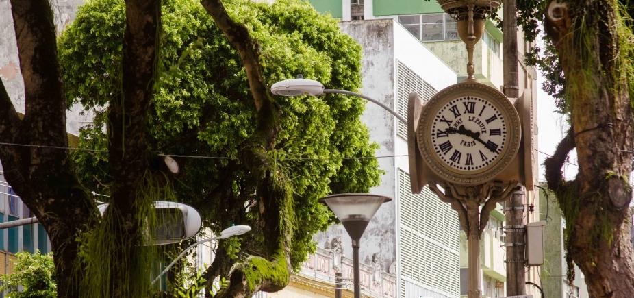 Relógio de São Pedro segue parado à espera de manutenção