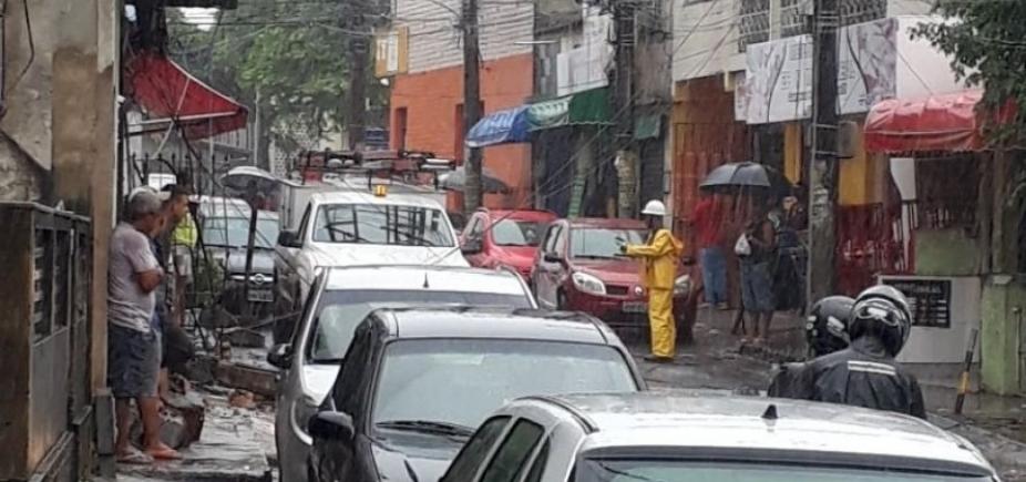 Imóvel desaba no bairro de Cosme de Farias