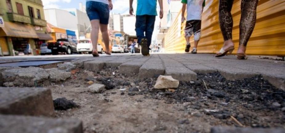 Reportagem de A Tarde mostra estado caótico das calçadas de Salvador