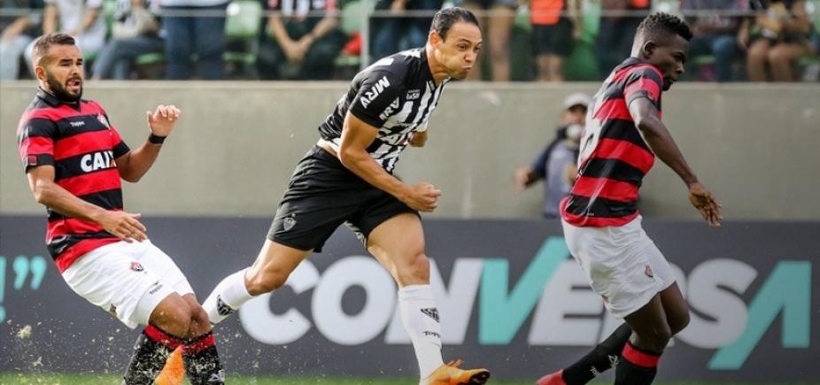 Vitória joga mal e perde para o Atlético-MG por 2 a 1