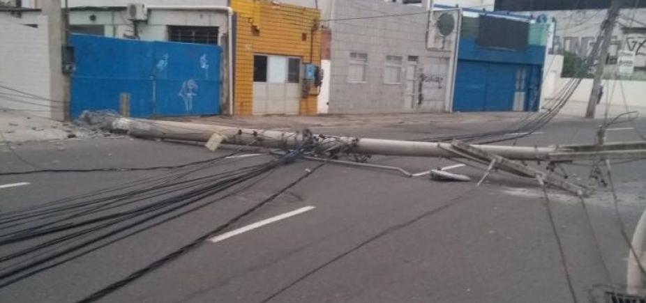 Acidente muda trânsito na Rua Oswaldo Cruz