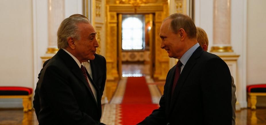 Temer é convidado por Putin para festa de abertura da Copa do Mundo