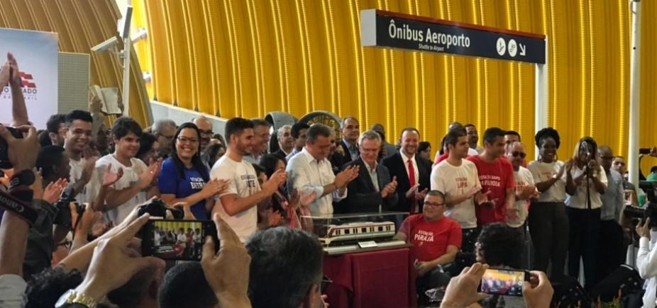 Rui não convidou ministro de Temer para inauguração do metrô