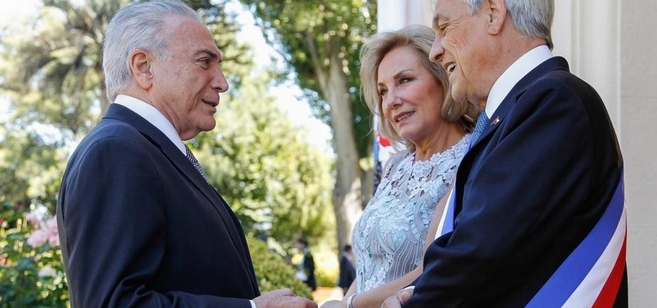 Temer recebe presidente do Chile, Sebastián Piñera