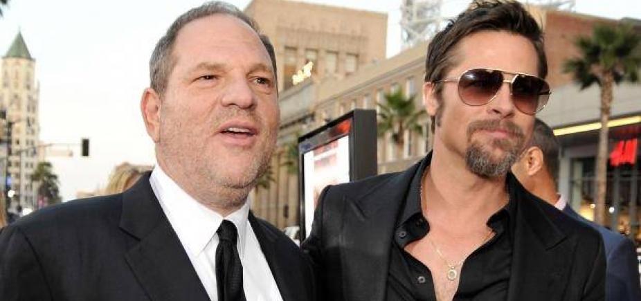 Brad Pitt produzirá filme sobre escândalo sexual do produtor Harvey Weinstein