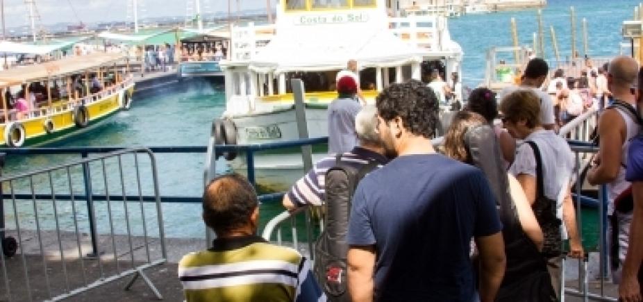 Parada por maré baixa, travessia Salvador-Mar Grande deve voltar a operar às 10h