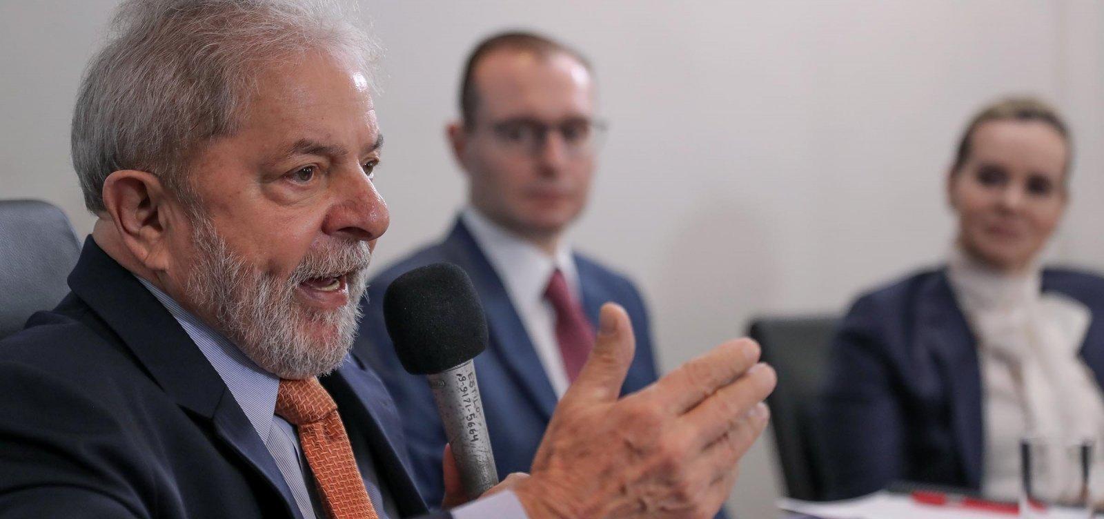 Defesa pede ao TSE que Lula possa gravar vídeos em apoio a candidaturas do PT