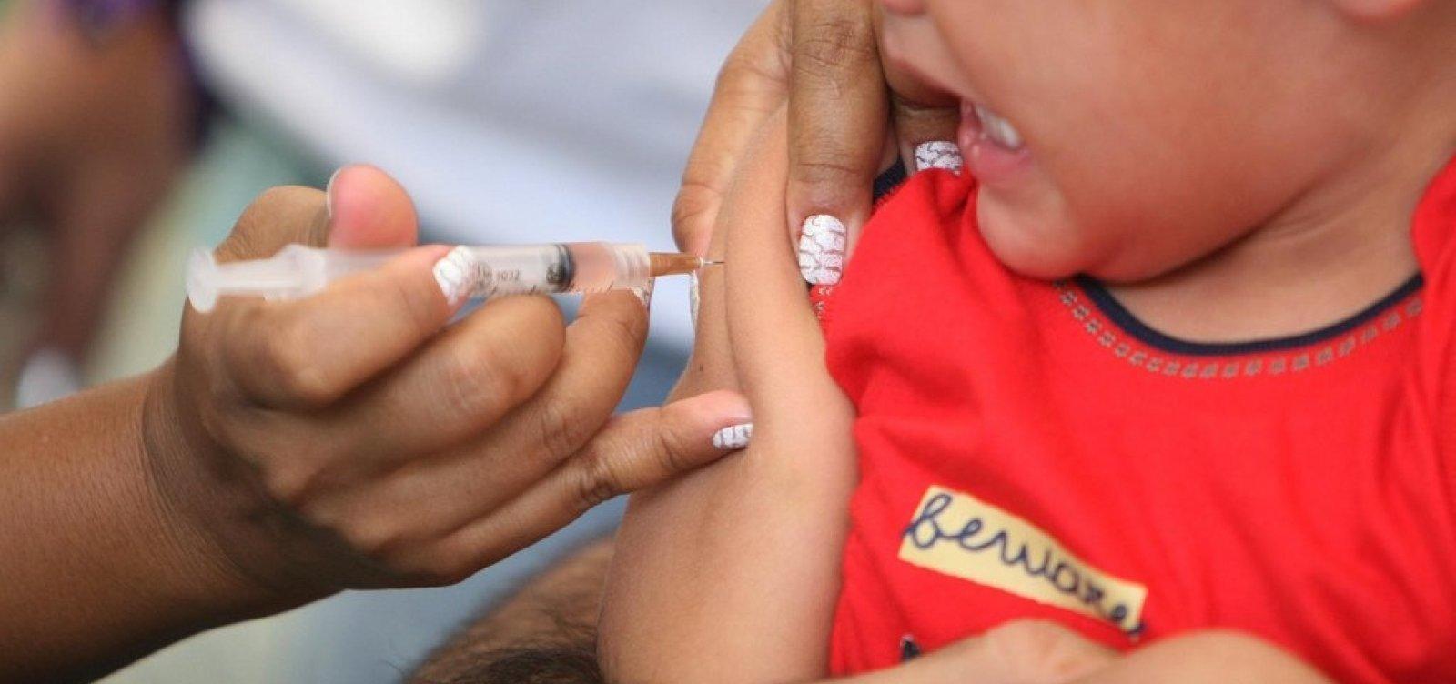 Campanha de vacinação contra poliomielite e sarampo é prorrogada até sexta-feira