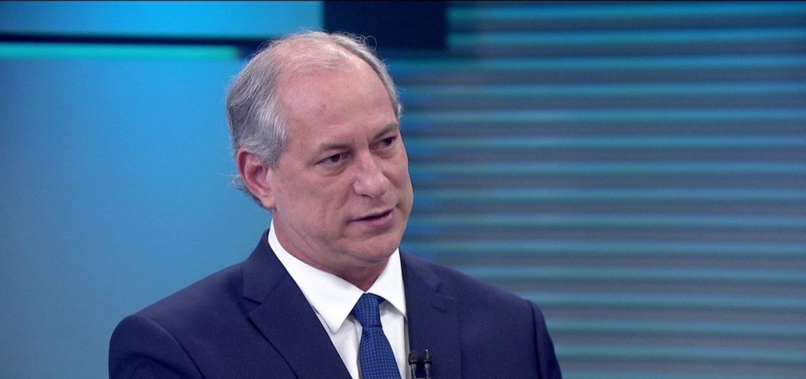 Ciro diz que Lula desconhecia mensalão, mas estava ciente da corrupção na Petrobras