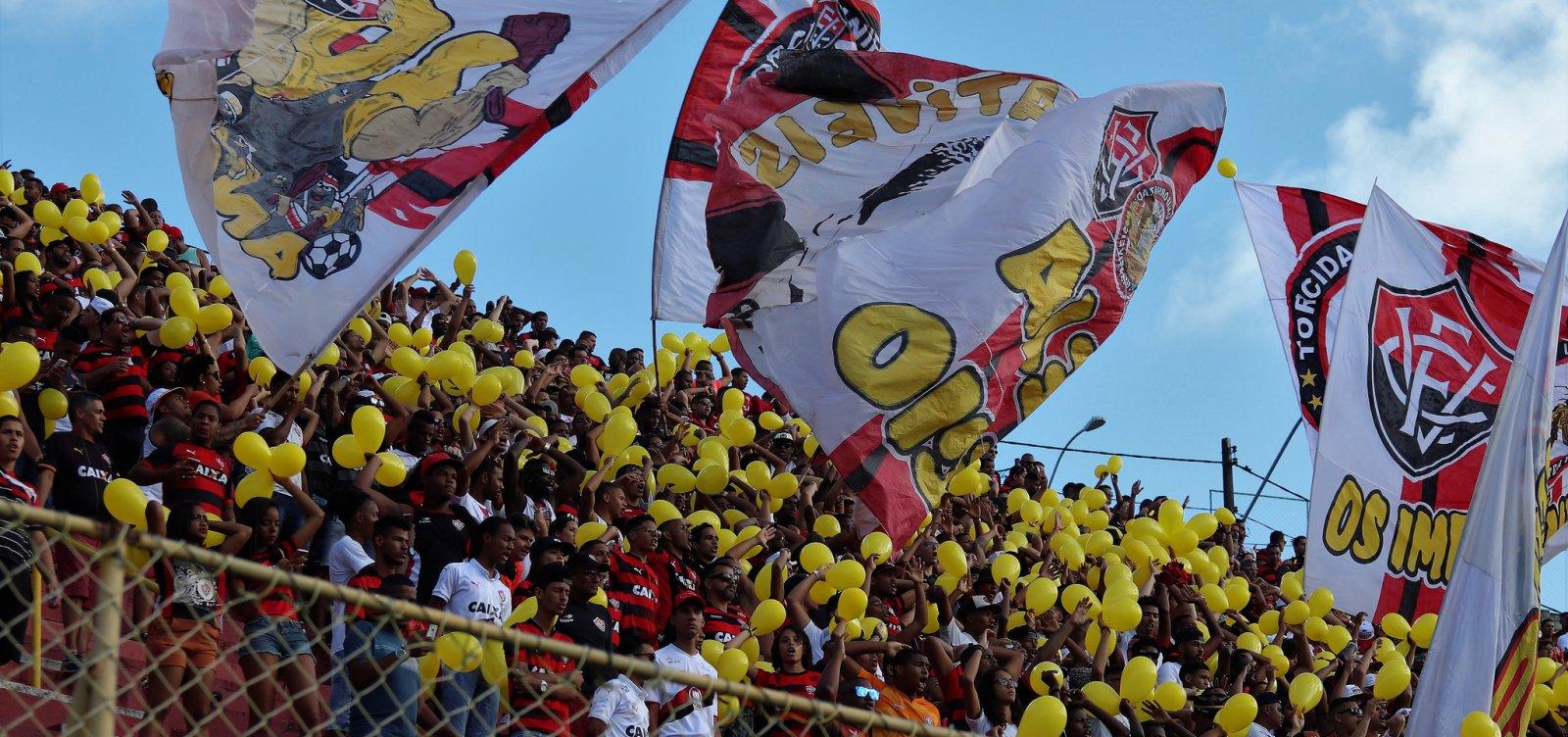 Vitória mantém promoção com ingressos a R$ 10 para enfrentar o Botafogo