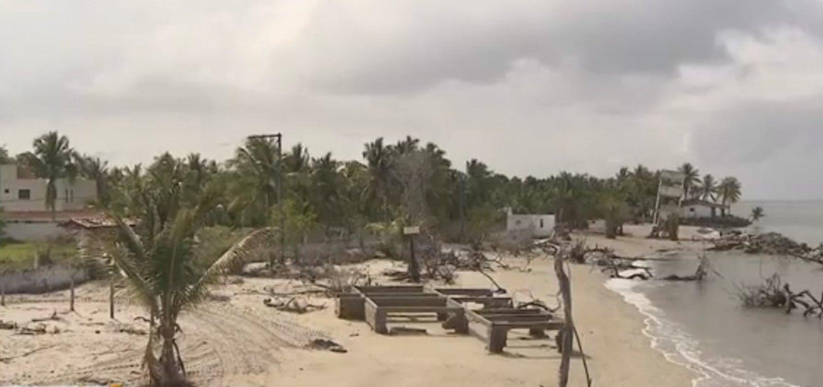Defesa Civil recomenda ações de emergência para conter avanço do mar em Vera Cruz