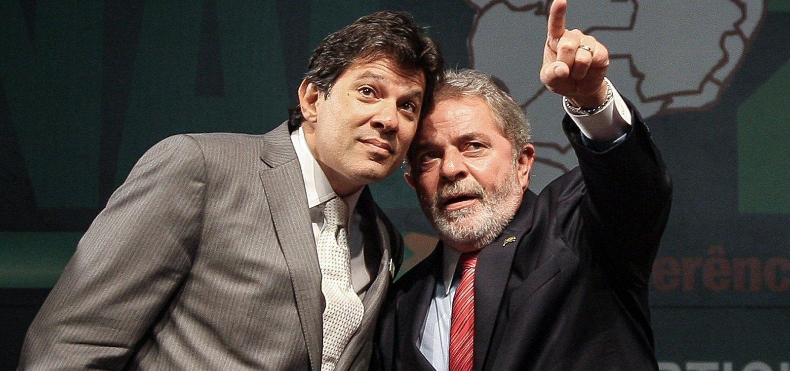 Sobe número de eleitores que ligam Haddad e Lula