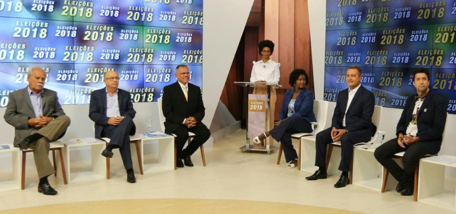 Debate da TVE entre candidatos ao governo é marcado por poucos confrontos
