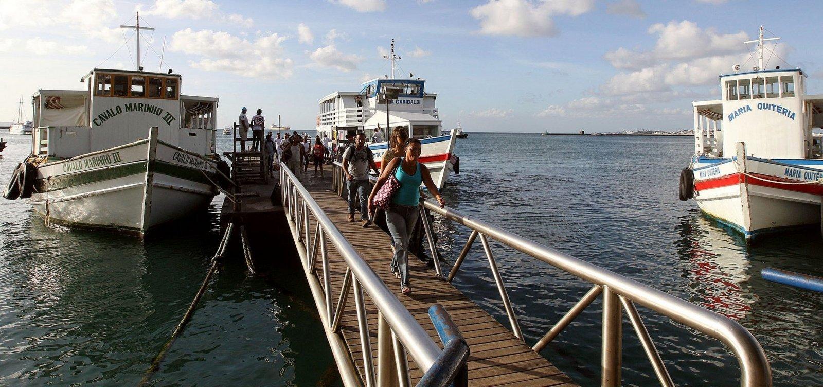 Travessia Salvador-Mar Grande encerra mais cedo hoje por causa de maré baixa