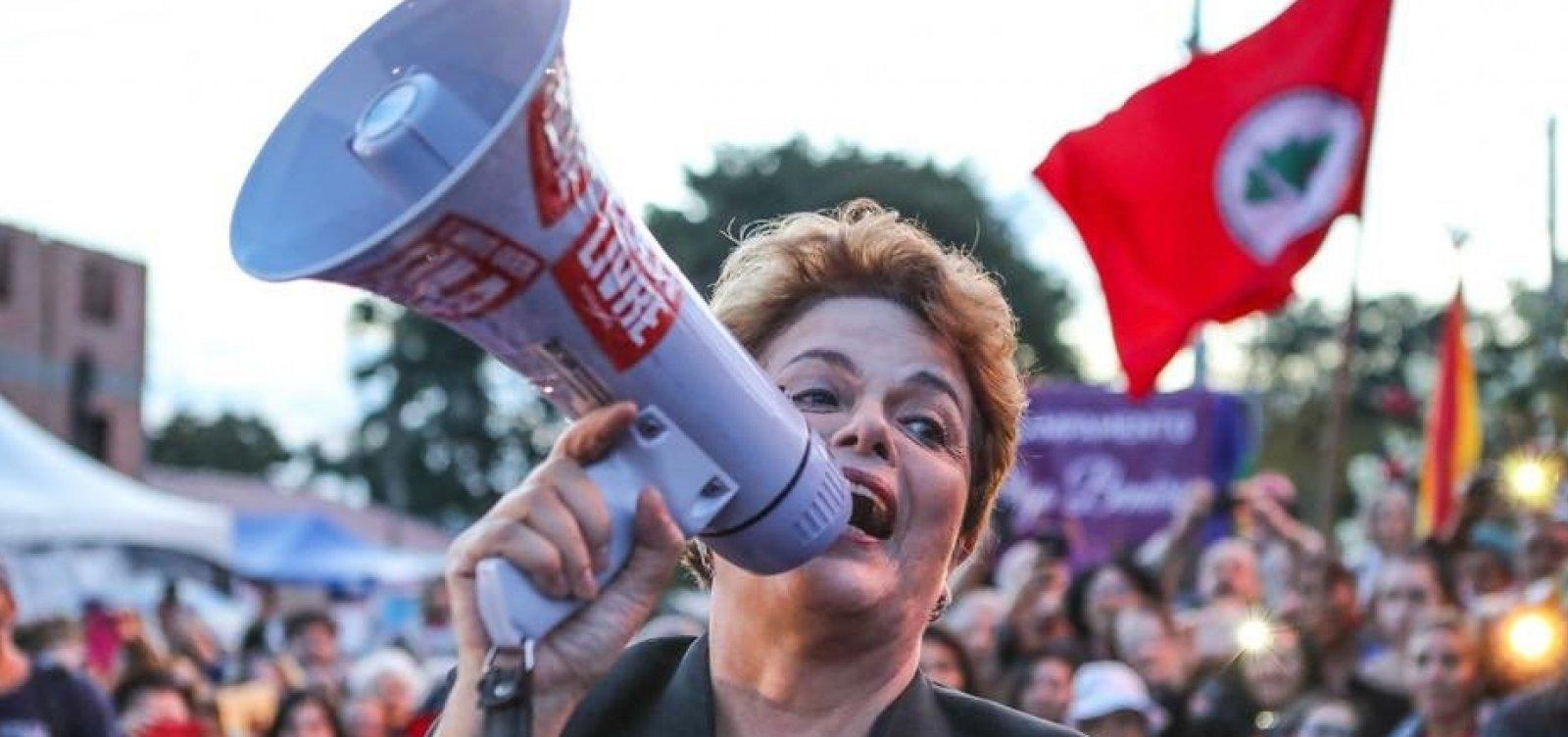 Candidata ao Senado, Dilma chama Bolsonaro de 'coiso' e Temer de 'usurpador'
