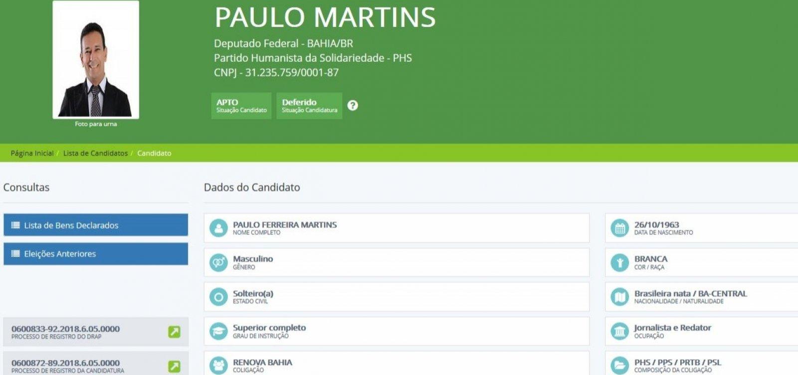 Candidato a deputado na Bahia doa um centavo para própria campanha