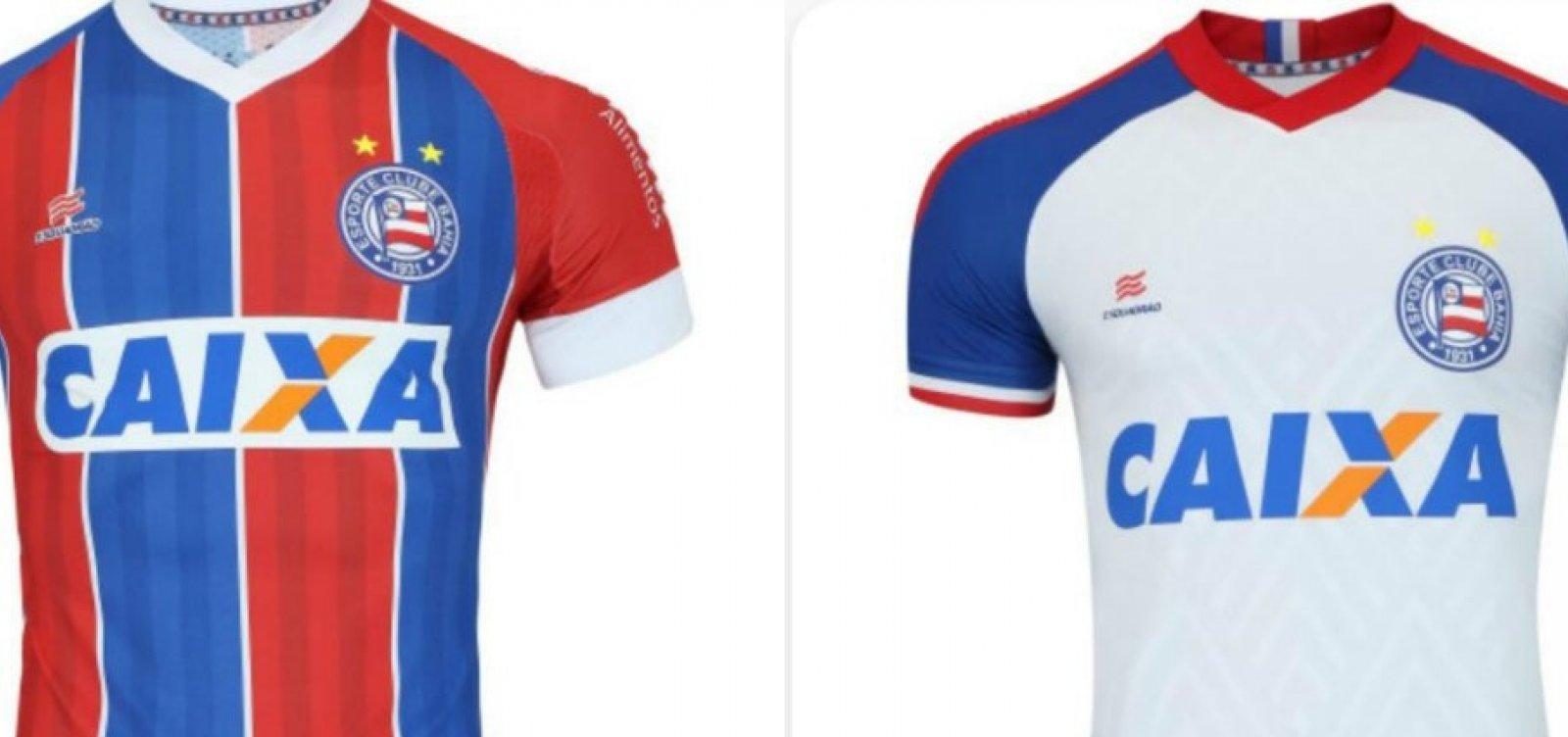 Loja esportiva vaza novos uniformes do Bahia; veja