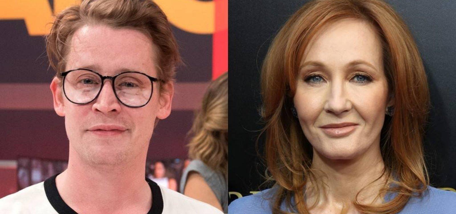 Macaulay Culkin defende J. K. Rowling de acusação de racismo e aproveita para pedir emprego