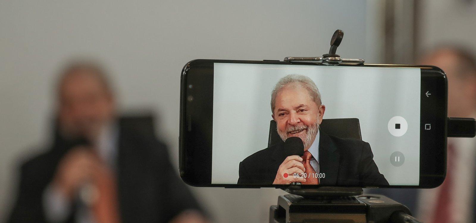Ministro do Supremoautoriza Lula a conceder entrevista