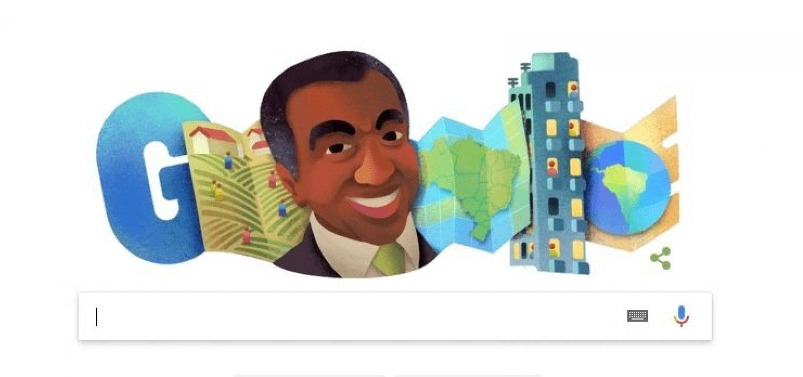 Baiano, Milton Santos é homenageado por doodle do Google