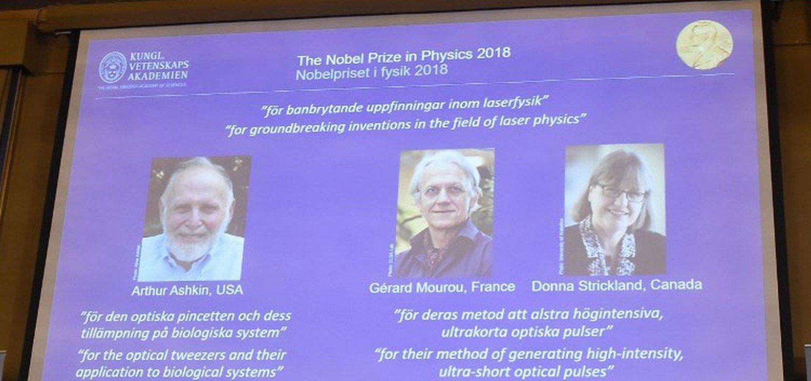 Trio leva Nobel de Física por descobertas com laser