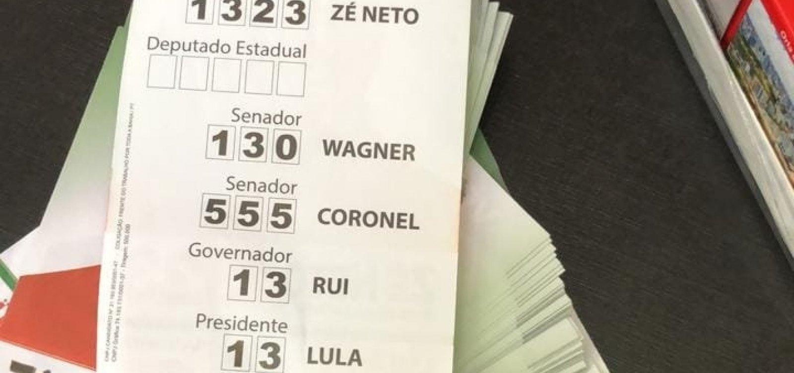 Desembargadora determina busca e apreensão de 'santinhos' de Lula em comitê de Zé Neto