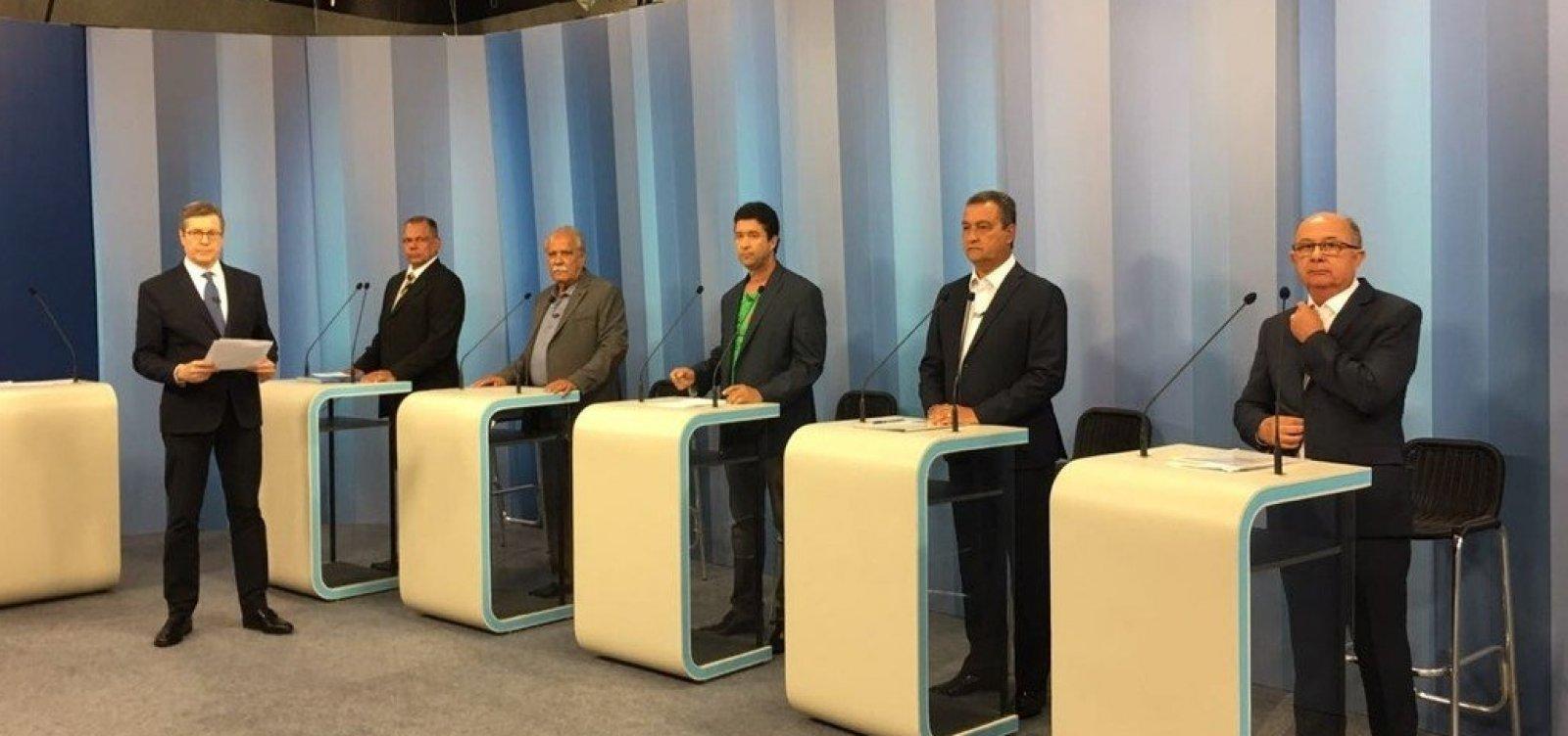 Debate na TV Bahia: último bloco tem embates entre candidatos e até com mediador