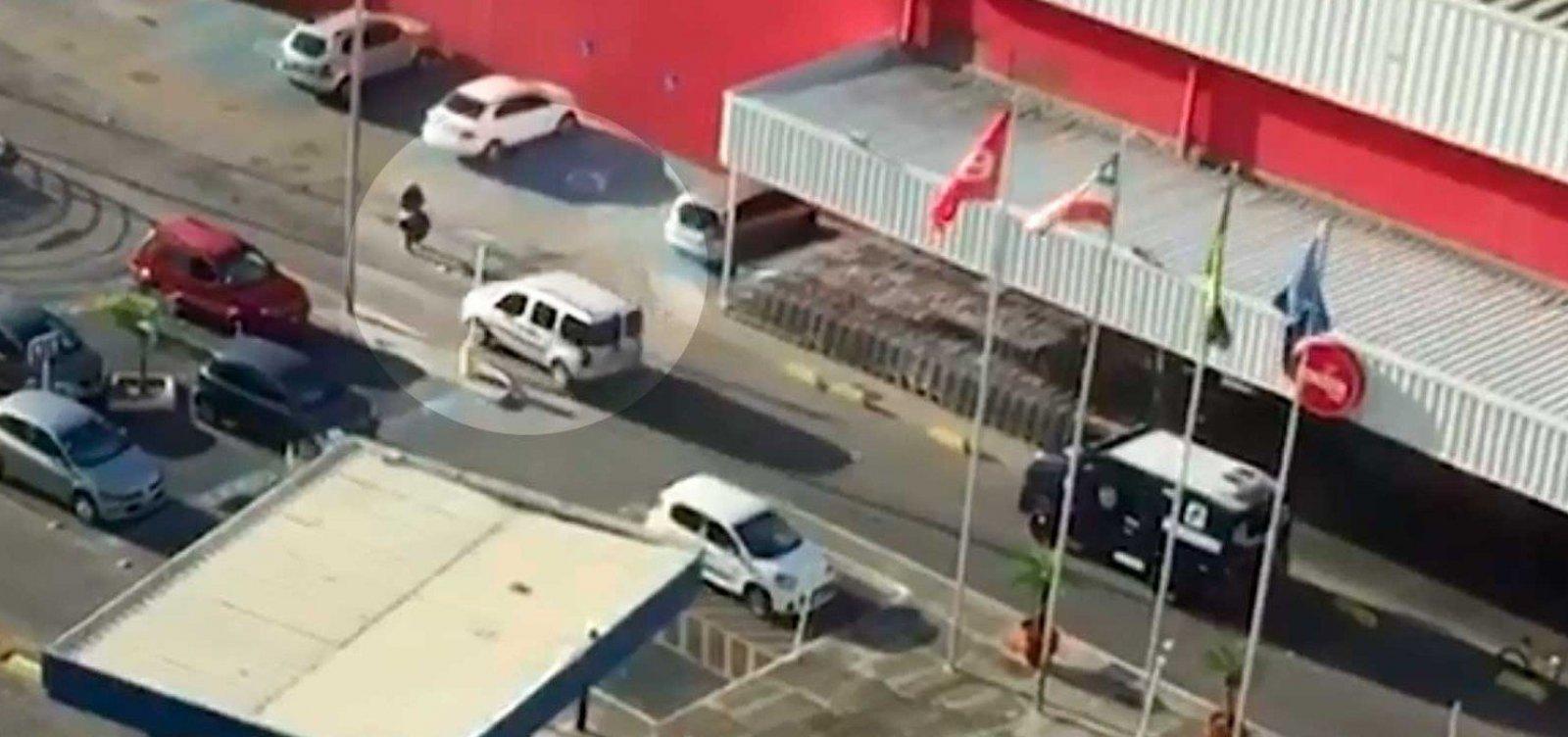 Assista: bandidos assaltam carro-forte na Vasco da Gama, em Salvador