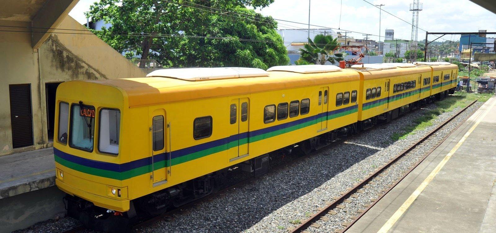 Após acidente, um dos trens do Subúrbio volta a funcionar