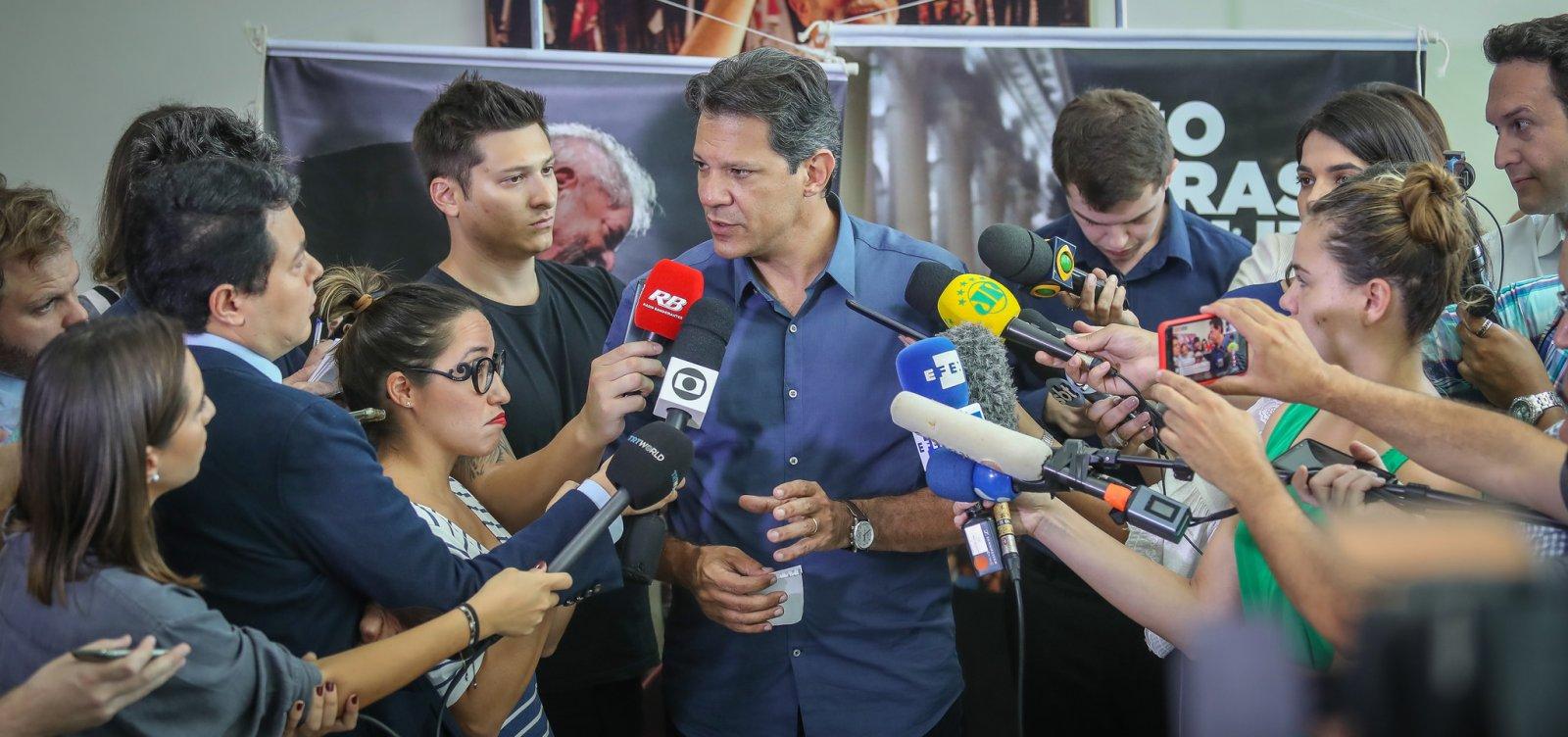 'Em um governo meu, Dirceu não terá nenhum papel', diz Haddad
