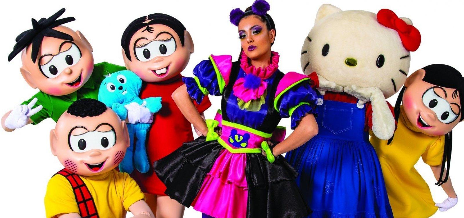 Turma da Mônica e Hello Kitty juntas em espetáculo em Salvador