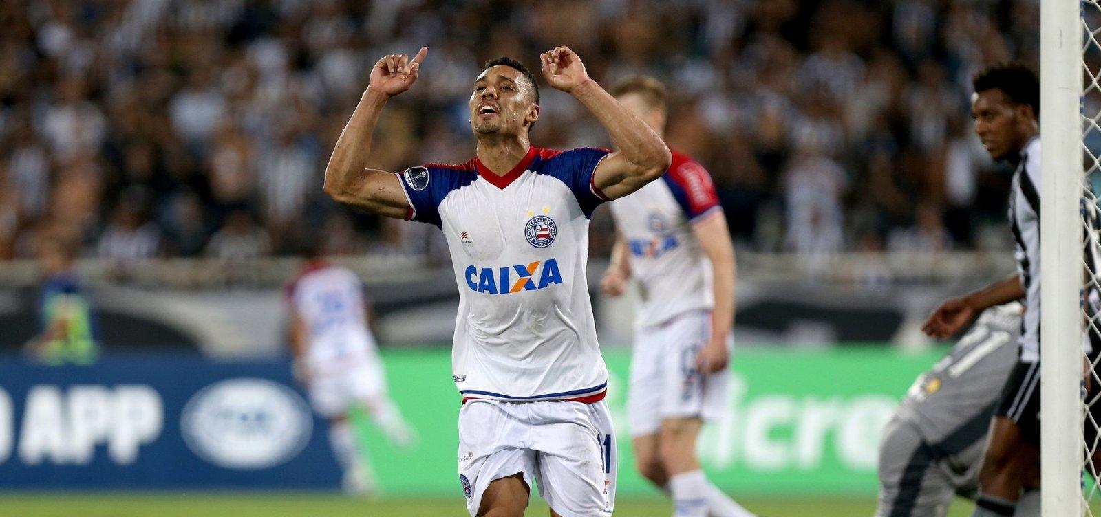 Nos pênaltis, Bahia bate o Botafogo e avança na Sul-Americana