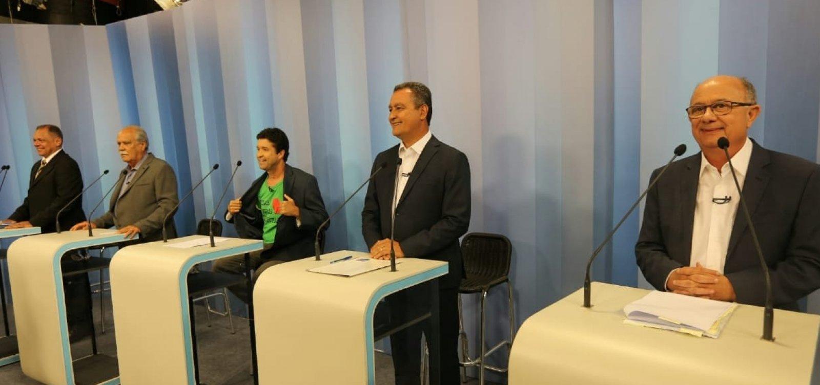Sem Rui, candidatos ao governo participam hoje de debate